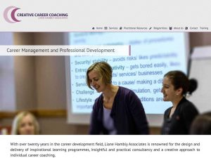 Creative Career Coaching Website Design